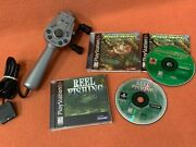 Reel Fishing Bass Landing Complete Playstation 1 2 Ps1 Ps2 Game Controller Lot