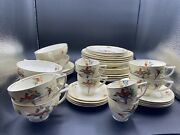 40-piece Dinnerware Set For 4. W H Grindley Ivory Andldquo Gay Macaw Andldquo England Read