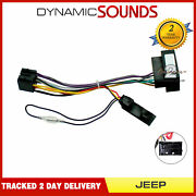 Cthue-jp1 Car Stereo Wiring Iso Adaptor With Ignition Generator For Jeep