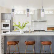 Mini Pendant Lights With Glass And Bubble Crystal Chrome Hanging Pendant Light
