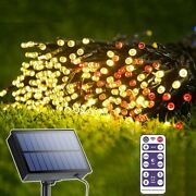 Solar Led Fairy String Lights Outdoor Waterproof For Christmas Decoration Lamps