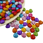 50pcs/lot 10mm Heart Shape Crackle Stone Beads Grain Beautiful Gifts Accessories