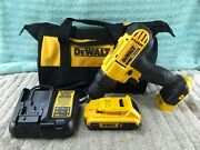 Dewalt 20v Max 1/2 Cordless Drill/driver-dcd771 W/ Battery And Charger - Used