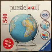 Ravensburger The Earth 3d Jigsaw Puzzle Ball World Globe 540 Pieces With Stand