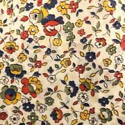 Vintage 30s Floral Extra Fine Cotton Lawn Fabric Heirloom Sewing Historical 5yd