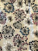 Vintage 30s Fireworks Atomic Cotton Fabric Heirloom Sewing 2 1/8 Yds X 35andrdquo
