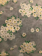 Vintage 46andrdquo Flocked Dotted Swiss Floral Daisy Fabric Heirloom Sewing Chiffon 1y