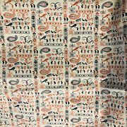 Vintage 1930s Geometric And Paisley Cotton Fabric Heirloom Sewing 3 Yds X 34andrdquo
