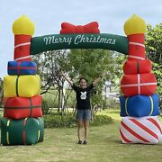 Tkloop 10ft Tall Lighted Christmas Inflatable Arch Inflatables Home Family Yard