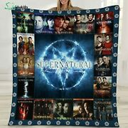 Supernatural Tv Show Blanket Funny Birthday Gift For Wife Dad Mom Son Daughter