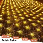 Garlands Led String Christmas Net Curtain Lights Fairy For Party Decorations