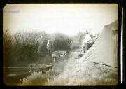 35 Mm Black And White Slides Lot Of 4 1947 Duck Hunting Tent People Boats