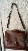 Coach Large Messenger Bag Brown New No Stains Vintage Leather