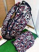 Completely Sold Out Pearly Gates Caddy Bag/stand Snoopy/snoopy Navy Mens Women