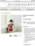 New Sold Out Pottery Barn Archie The Snowman Pillow