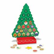 Countdown To Christmas Wooden Advent Calendar - Magnetic Tree 25 Magnets