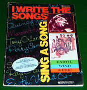 Earth Wind And Fire, Quincy Jones, I Write The Songs Song Book With Sheet Music