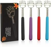 4-pack Portable Extendable Telescopic Bear Claws Metal Back Scratchers