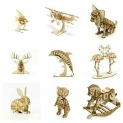 Jigzle Wooden Model Kits 3d Puzzles Choose From Scroll Down No Glue Required