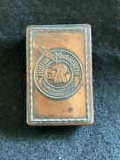 Antique Indian Motorcycle Highest Honors Matchbox Holder- Original And Rare