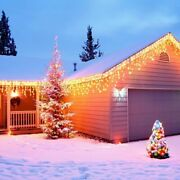 Curtain Icicle Led String Fairy Lights Garlands Christmas Tree Party Decorations