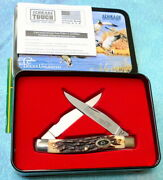 Schrade Usa Uncle Henry Small Game Muskrat Knife 77uh - New 2000 Ducks Unlimited