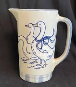 Louisville Stoneware Gaggle Of Geese 7 1/4 Tall Pitcher 32oz