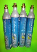 Lot Of 4 - Empty Sodastream Co2 Gas Canisters Tank Bottles 14.5oz 60l Empty
