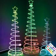 Christmas Led Folding Tube Spiral Tower Tree Lights Point Control Decorations