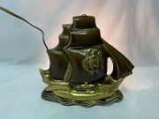Vintage Mcm Sailing Ship Tv Lamp Boat Light Mid Century By Lampcrafters Working