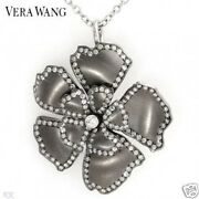 New Vera Wang Necklace/brooch 0.90ctw Clean Diamonds