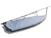 Vanguard 15 Sailboat - Boat Deck Cover - Polyester Charcoal Gray Top Cover
