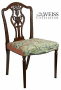 Swc-fine Sheraton Carved Side Chair England C.1790