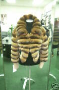 New Womenand039s Brown And Beige Chinchilla Fur Coat Jacket