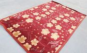 R6040 Exclusive Floral Red Tibetan Rug Wool And Silk 6and039 X 9and039 Handmade In Nepal