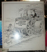 1920 Political Historical Cartoon Art Neal Mccall Oregon Pen And Ink Drawing