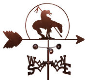 Swen Products End Of Trail Horse Steel Weathervane