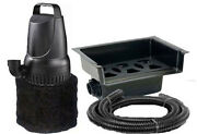 1200 Gph Pond Pump And 14 Waterfall Spillway Combo Kit + Tubing And Filter