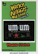 Topps Wacky Packages Old School 3 Promo Card Um And Umand039s