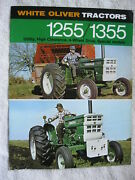1970 White Oliver 1255 And 1355 Tractors 12 Page Brochure