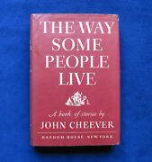 John Cheeverand039s 1st Book The Way Some People Live 1st Ed