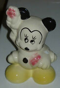 Disney Mickey Mouse Ceramic Figure Leeds C. 1940and039s No Bank Coin Slot