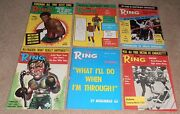 12- Vintage 1974 The Ring Boxing Magazine Lot 1 Full Year In Great Condition