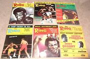 12- Vintage 1973 The Ring Boxing Magazine Lot 1 Full Year In Great Condition