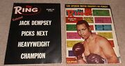2- Vintage 1967 The Ring Boxing Magazine Lot Jack Dempsey Thad Spencer