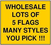 3x5 Large Lot Of 5 Checkered Flag Wholesale Discount Banner Outdoor U Pick 3and039x5and039