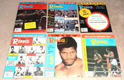 12- Vintage 1978 The Ring Boxing Magazine Lot 1 Full Year In Great Condition