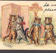 Wain Cats At Partyfanswrite Away Tuckold Postcard