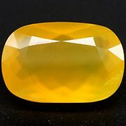 33.60 Ct Mexican Fire Opal Yellow Cushion Solid Natural Gemstone