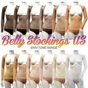 Long Sleeved High Back Bellydance Bodystocking Belly Stockingandtrade Dance Body Suit L